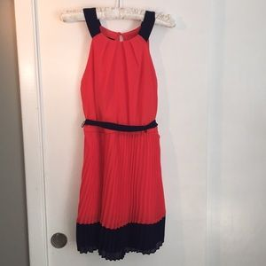 BCX pink and navy dress